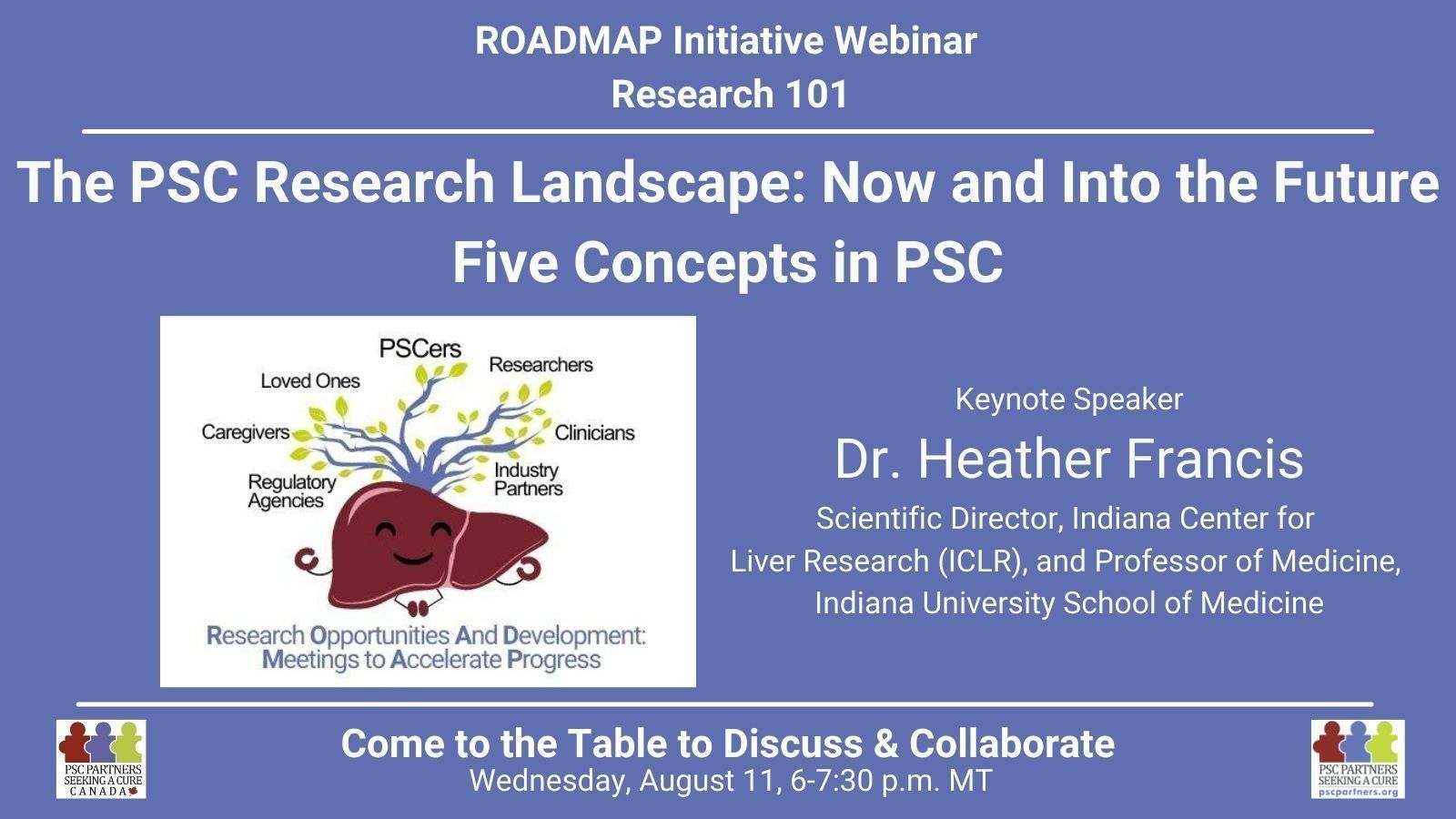 ROADMAP Research 101 - The PSC Research Landscape: Now and Into the Future -- Five Concepts in PSC