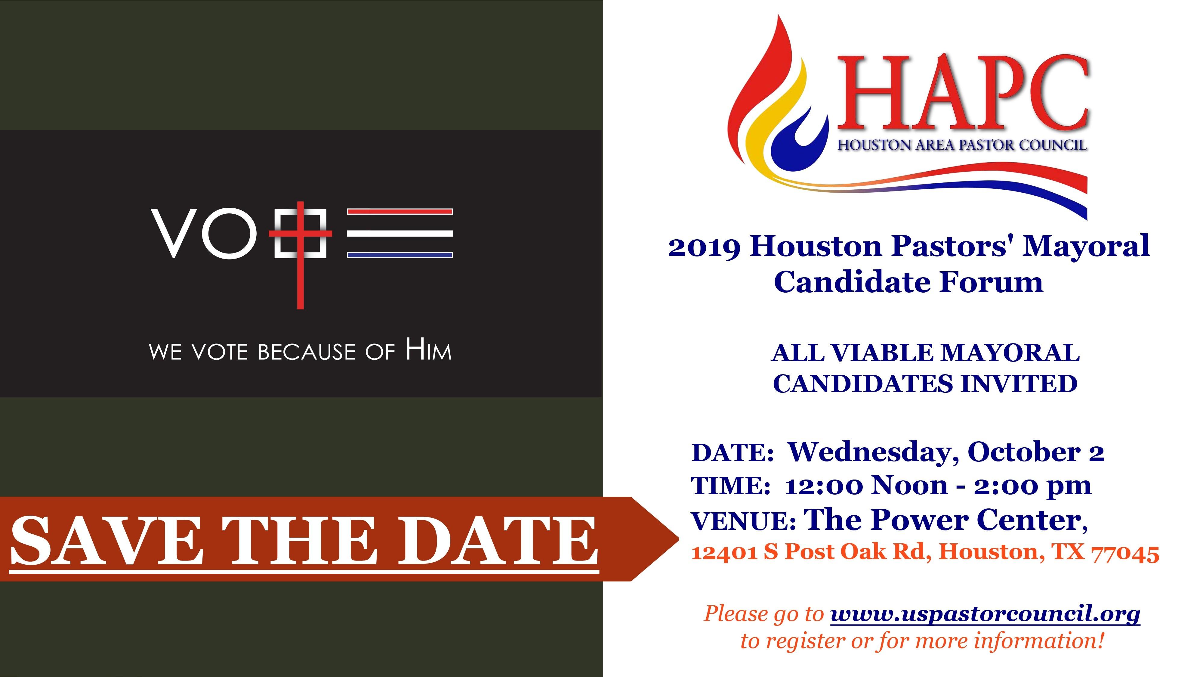 Houston Pastors' Mayoral Candidate Forum