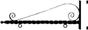 M4020 - Heavy Duty Scroll Bracket