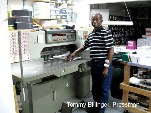 Tommy Billinger, Pressman