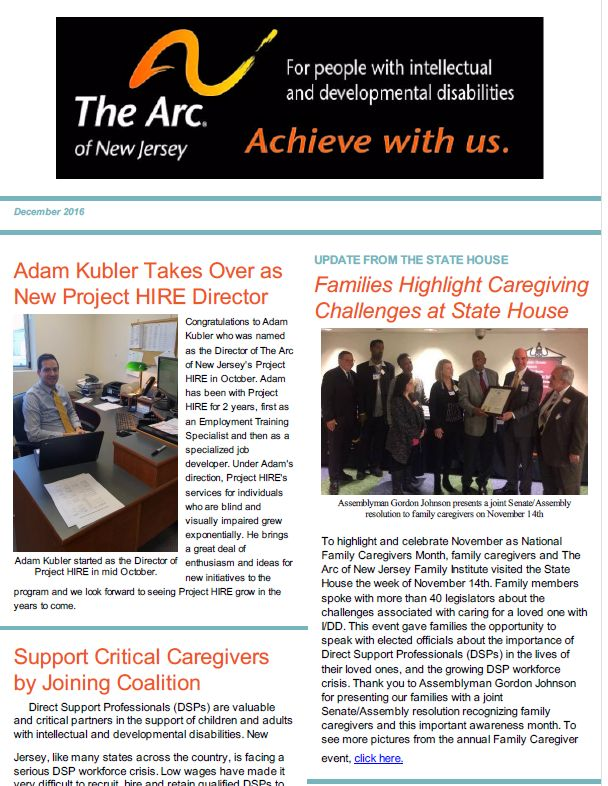 The Arc of New Jersey : Information : Publications