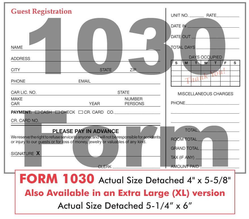 Registration Forms Guest Registration Forms