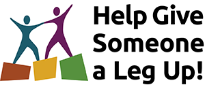 Daily Work icon of one figure pulling up another; reads Help Give Someone a Leg Up