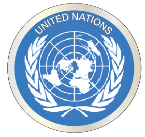 EP-1120 - Carved Plaque of the Great Seal  of the United Nations,  Artist Painted