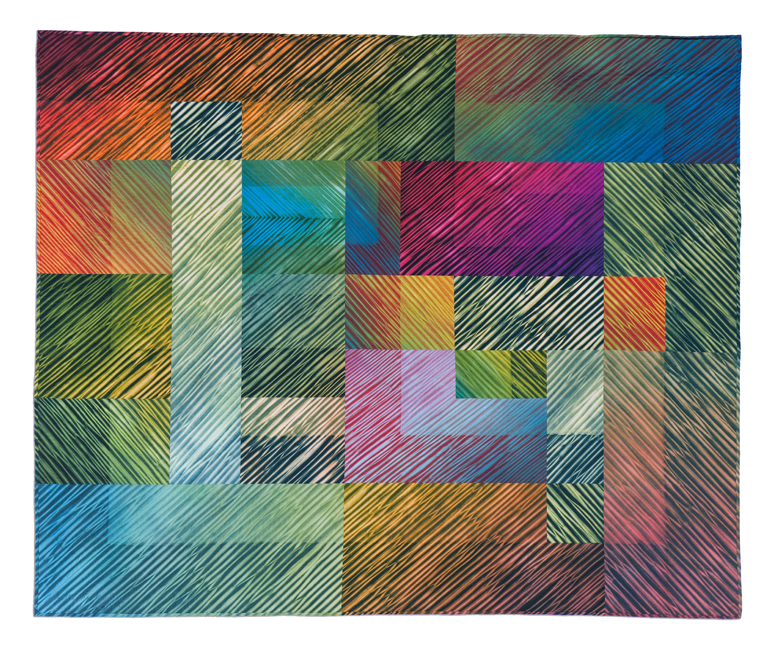 'Carnival,' made by Jan Myers-Newbury, made in Pennsylvania, 2011, shaped-resist dyed, machine pieced and quilted, 57 x 68""