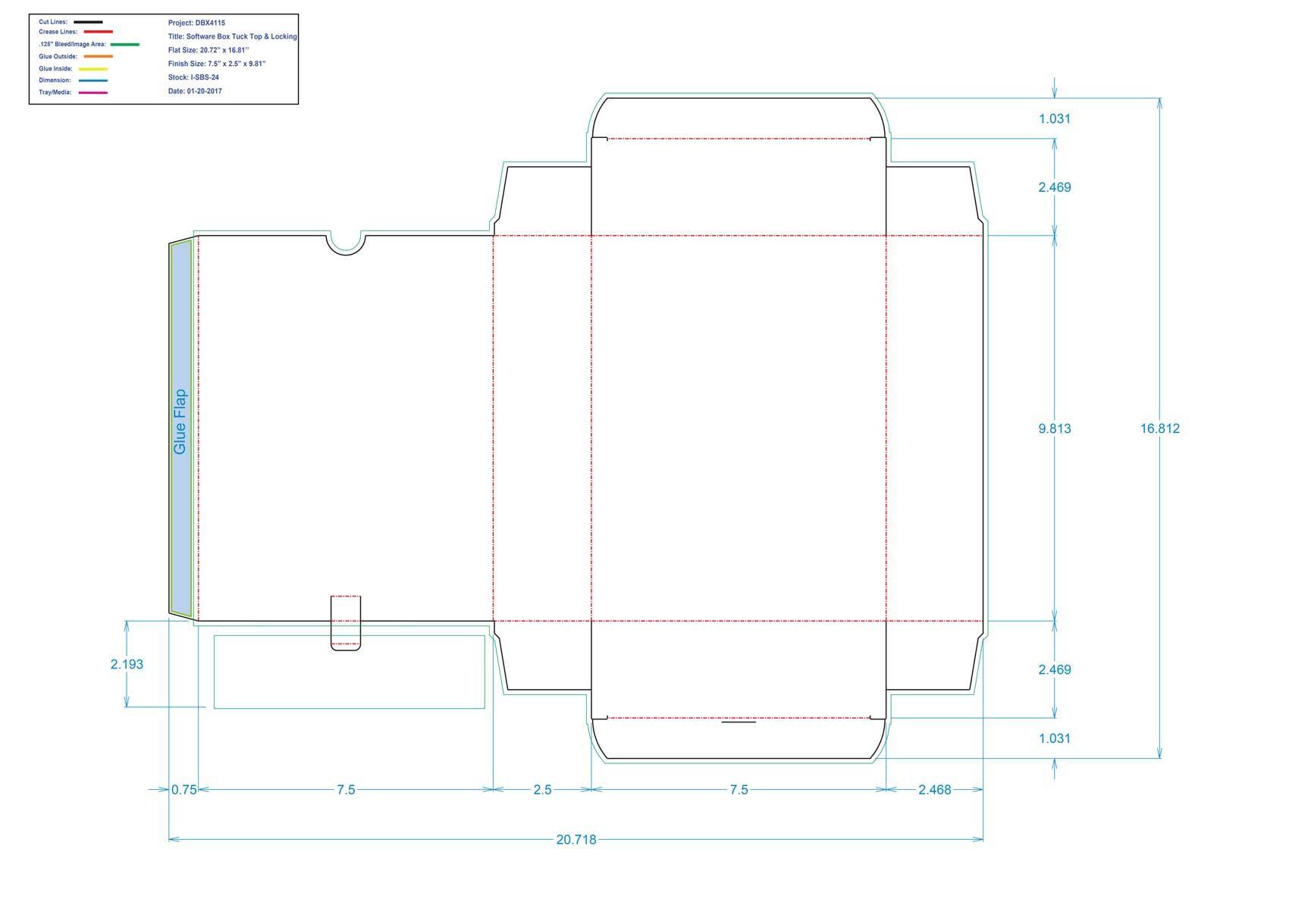 DBX4115 Software Box