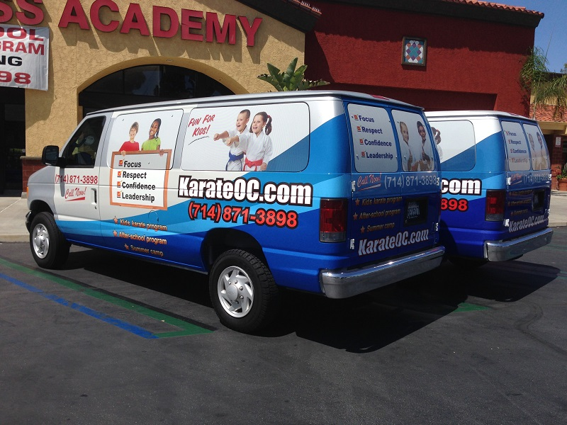 Karate School Van Wraps Orange County