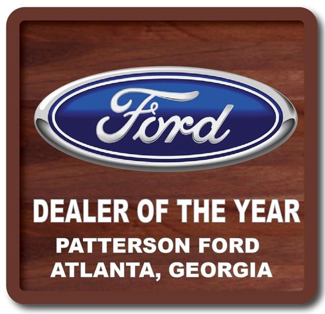 "Z35307 - ""Dealer of the Year"" Mahogany Plaque with Carved Aluminum  Logo  for  the Ford  Corporation"