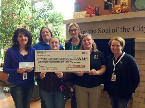 Kwik Shop Raises Over $7,000 for Matt Talbot Kitchen & Outreach