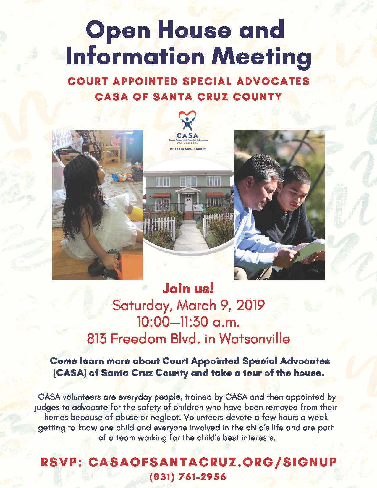 CASA Open House and Information Meeting