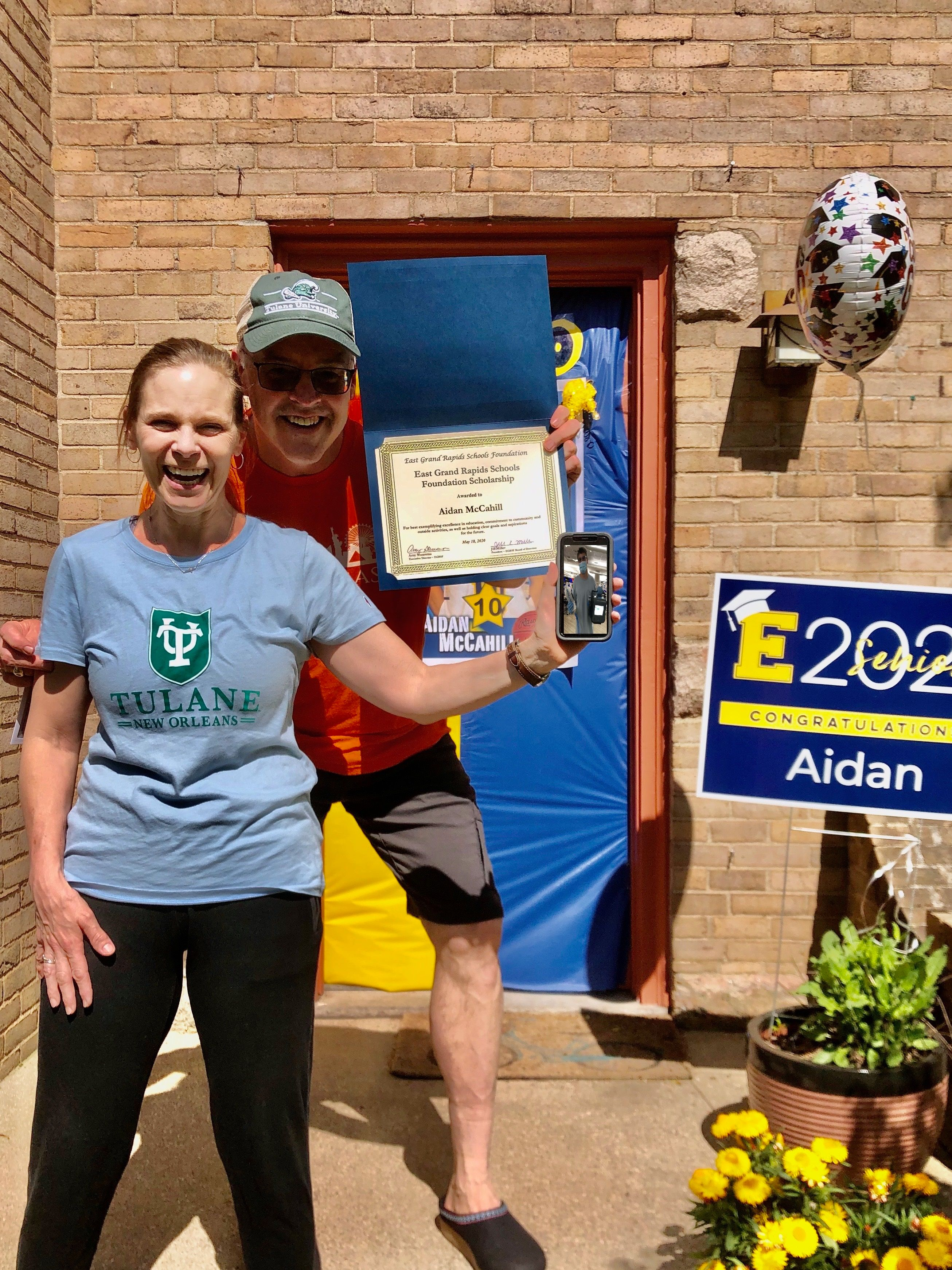 Aidan McCahill - EGRSF Scholarship