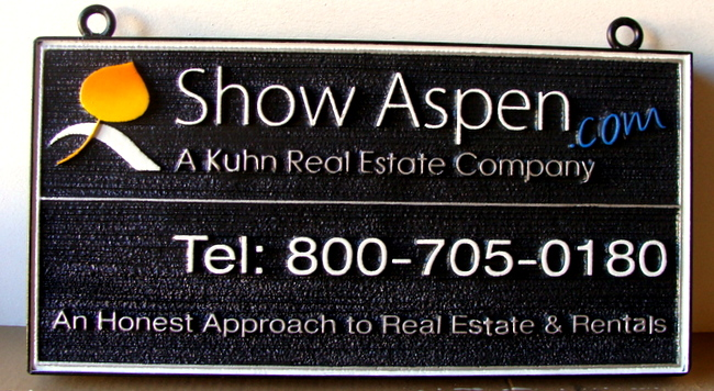 C12332 - Carved Wood Real Estate Company Sign
