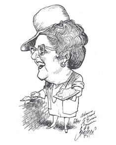 Bessie B. Moore caricature