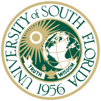 RP-1640 - Carved Wall Plaque of  the Seal of the University of South Florida, Artist Painted