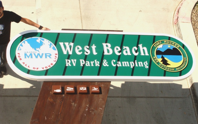 G16303 - All-Weather Sign for Outdoor Recreation RV Park and Camping