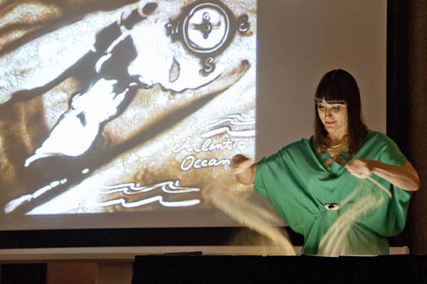 Charlene Lanzel, Sand Performance Artist