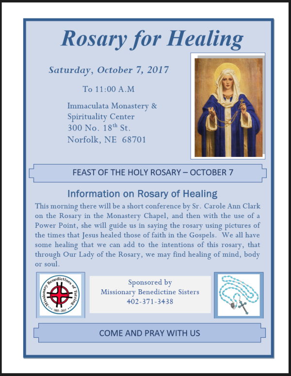 Rosary for Healing - Closing the Fatima Jubilee Year