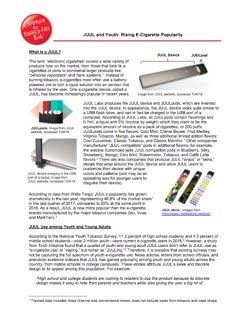 JUUL is an e-cigarette device
