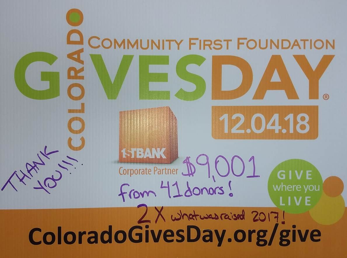 Colorado Gives Day 2018 was AMAZING!!