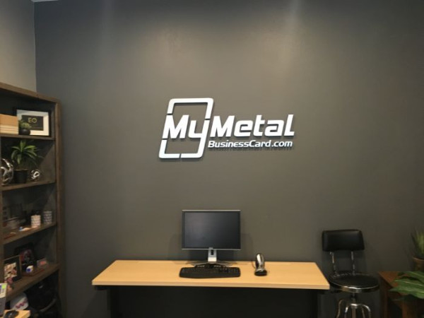 Brushed Metal Logo Lobby Signs Orange County CA