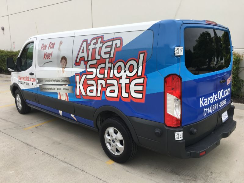Van Graphics for Karate Schools in Fullerton CA