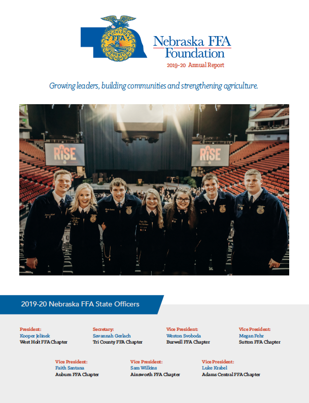 2019-20 Nebraska FFA Foundation Annual Report