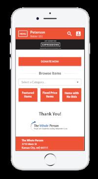 BidPal app on cell phone
