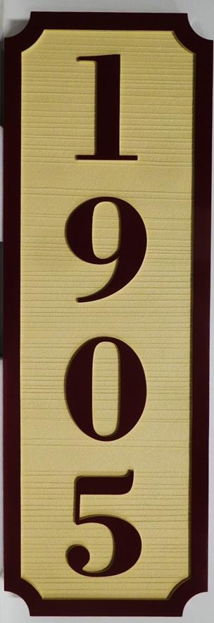 I18864 - Carved HDU Vertical Address Number Sign