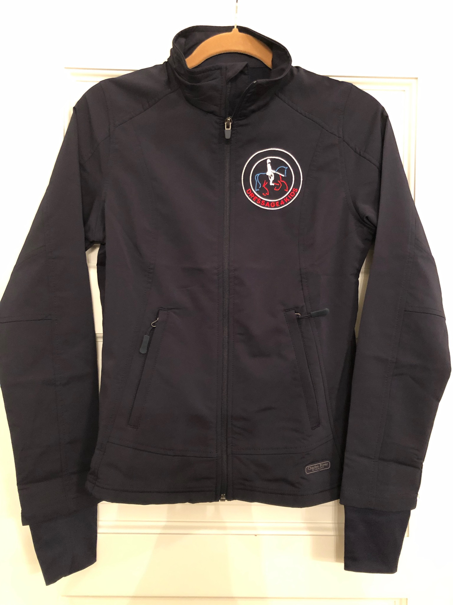 Dressage4Kids Navy Soft Shell Jacket - Click to read more