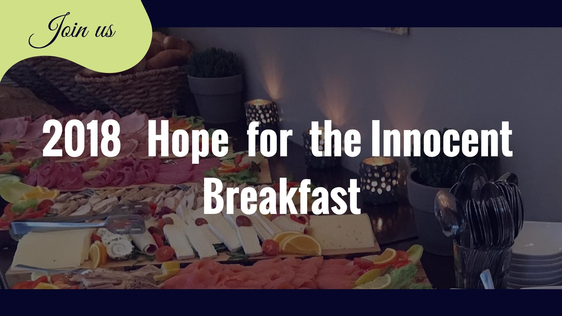2018 Hope for the Innocent Breakfast