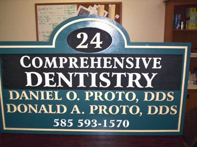 BA11541 - Sandblasted, Carved HDU Dental Office Sign
