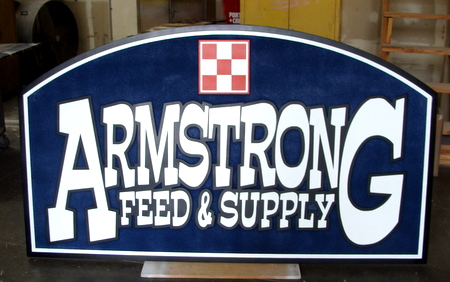 M5196 -  Feed & Supply Store Sandblasted Wood Sign