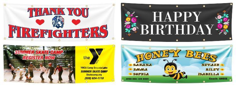 Samples of Custom Banners, Visalia, CA