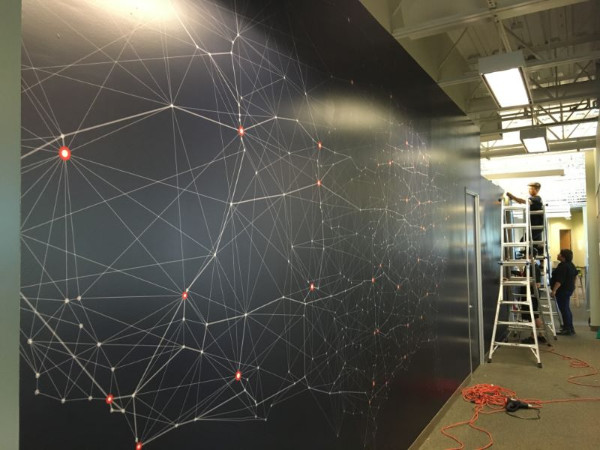 Wall graphics for businesses relocating to Orange County CA