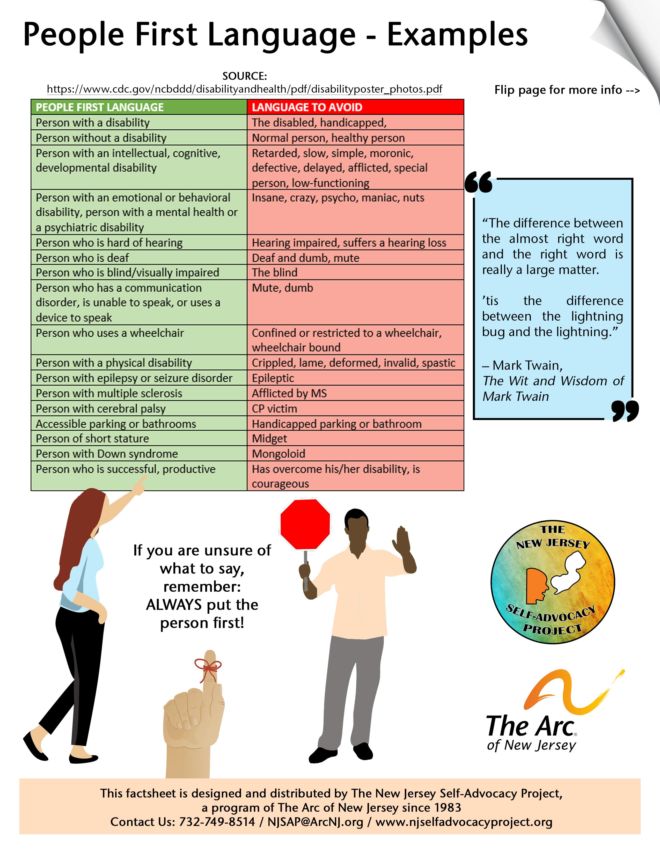People First Language Factsheet
