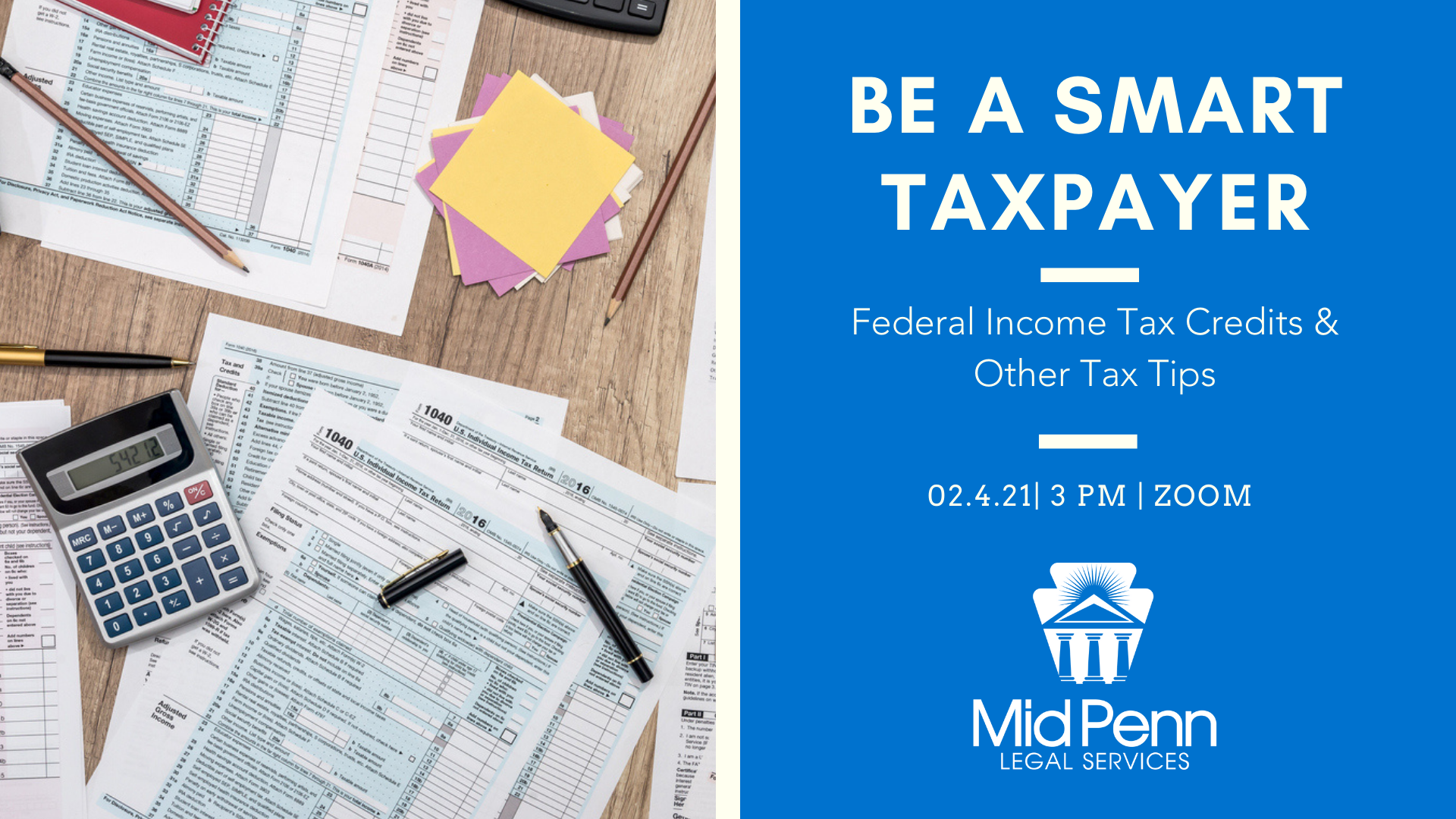 Webinar February 4: Be A Smart Taxpayer