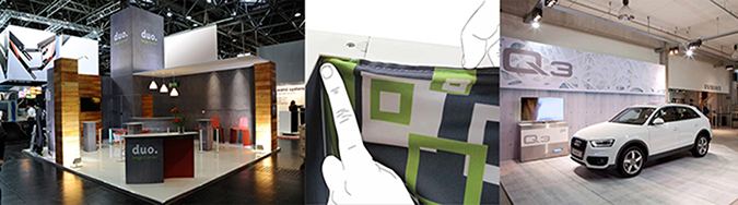 panoramic modular fabric exhibit sytem