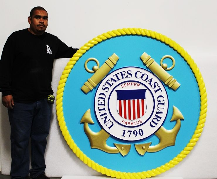 NP-1030 - Large Carved Seal  of the US Coast Guard