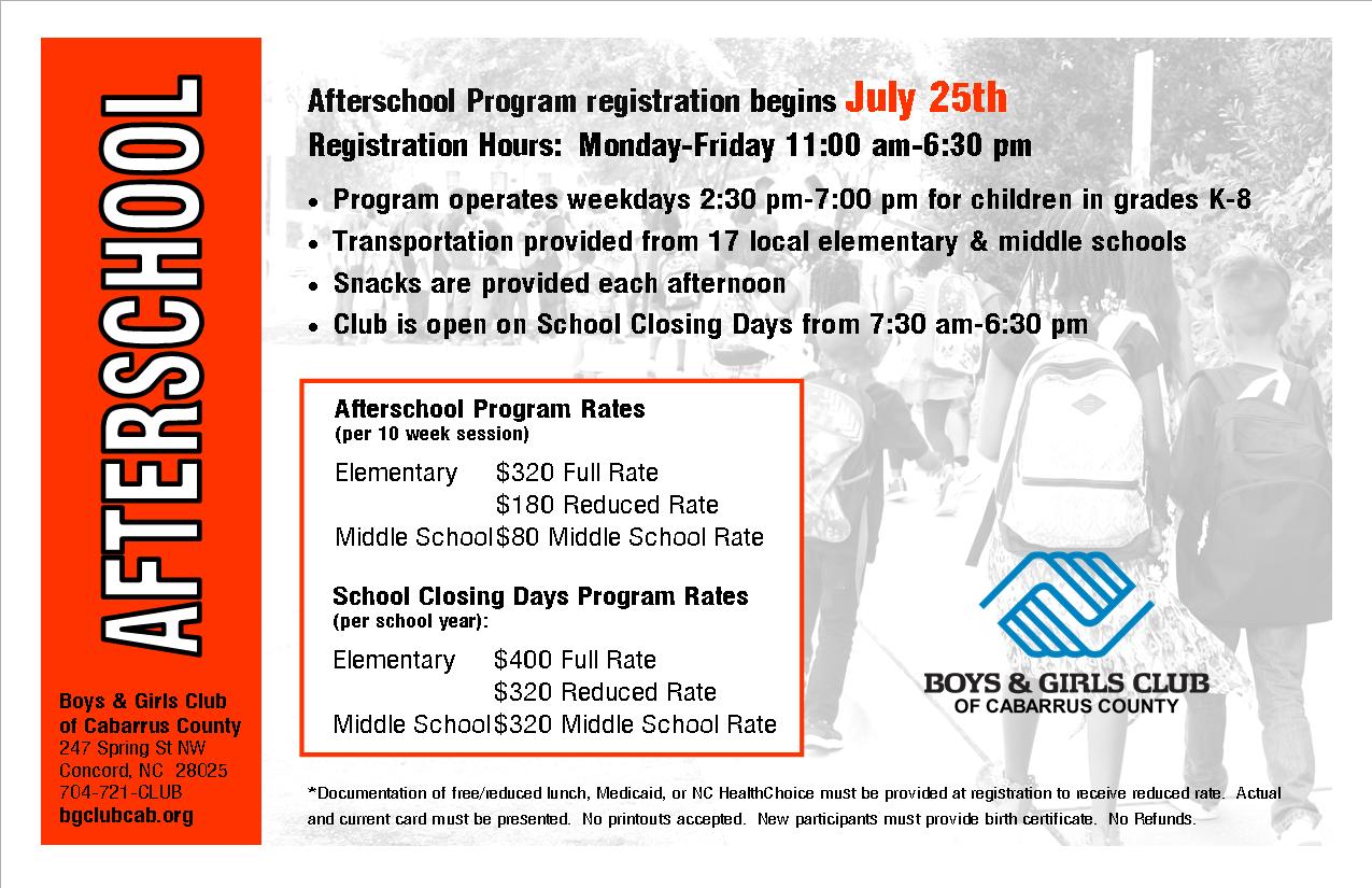 Afterschool Program Registration Begins