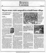 Megen owner starts nonprofit to rebuild home village