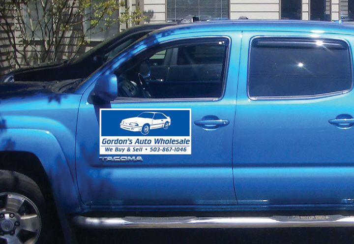 Gordon's Auto Vehicle Magnet