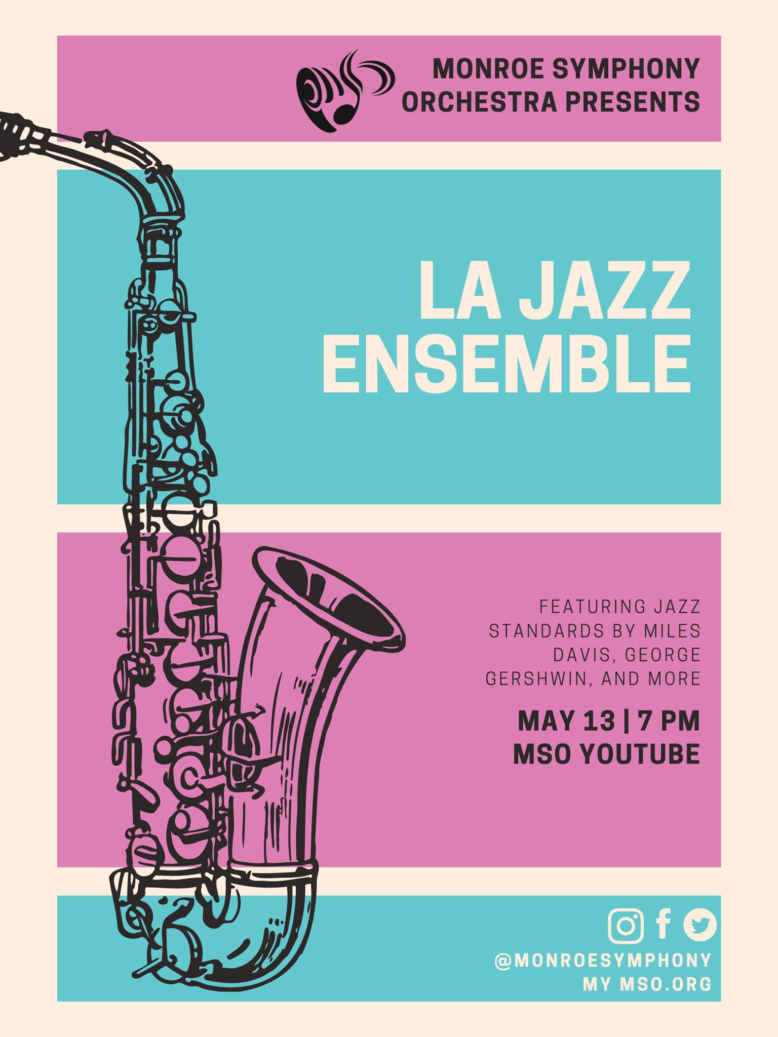 Monroe Symphony Orchestra Presents: An Evening of Jazz Standards
