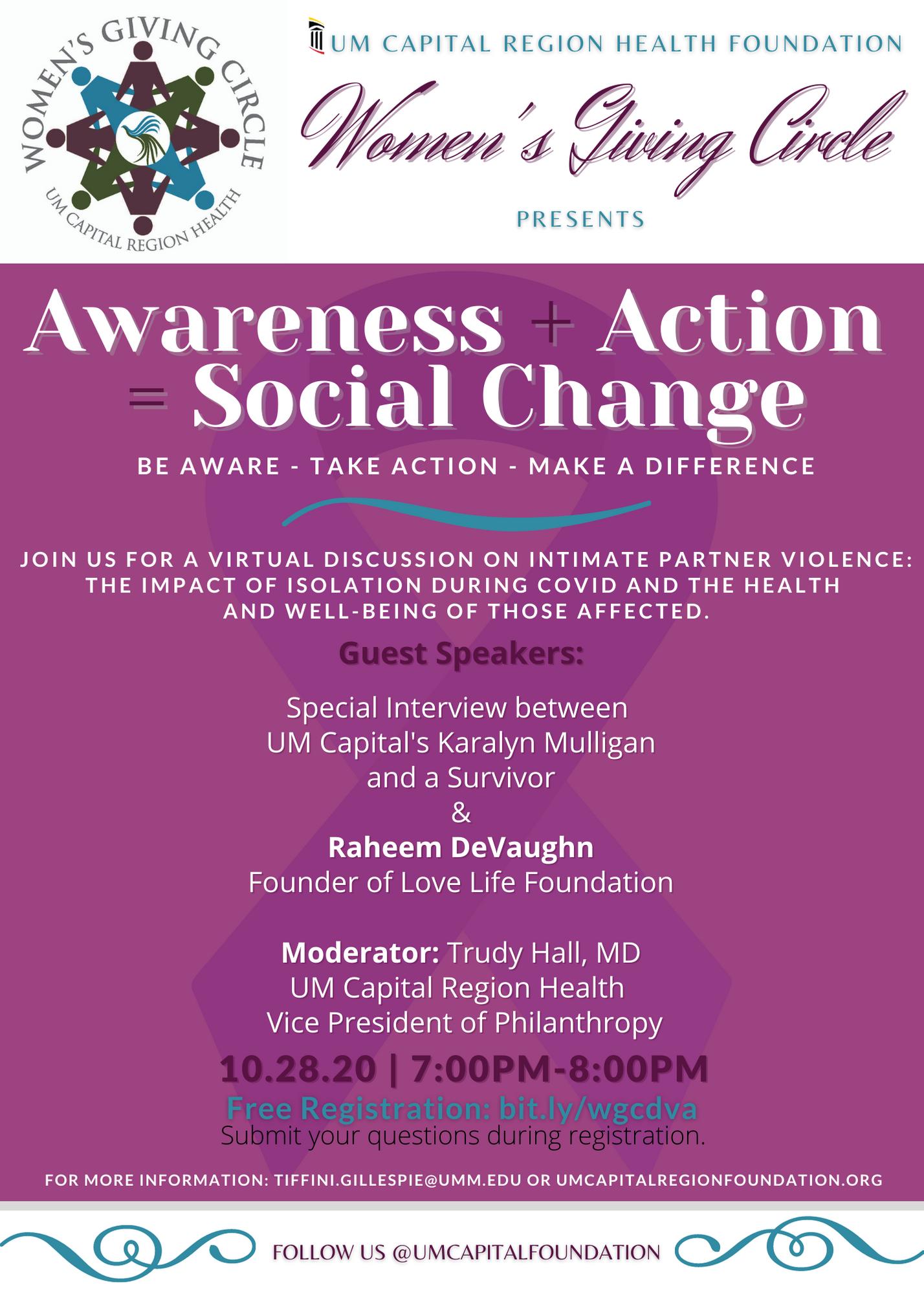Awareness + Action = Social Change - 10/28