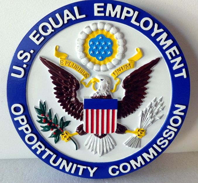 AP-6695 - Carved Plaque of the Seal of the Equal Employment Opportunity Commission