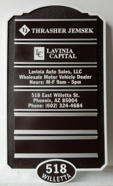 C12027 - Business Directory Sign with Changeable Business Name Plaques