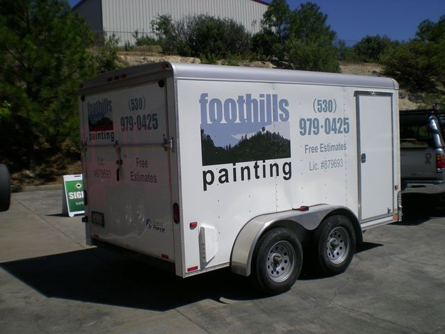 Graphics on a Contractor Trailer
