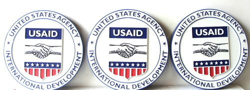 U30788 - Carved HDU Wall Plaques for the US AID Organization