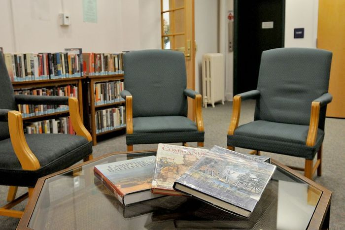 Dr. Irwin Marcus reading area