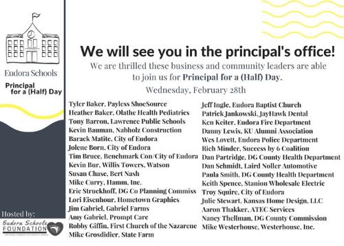 2018 Guest Principals