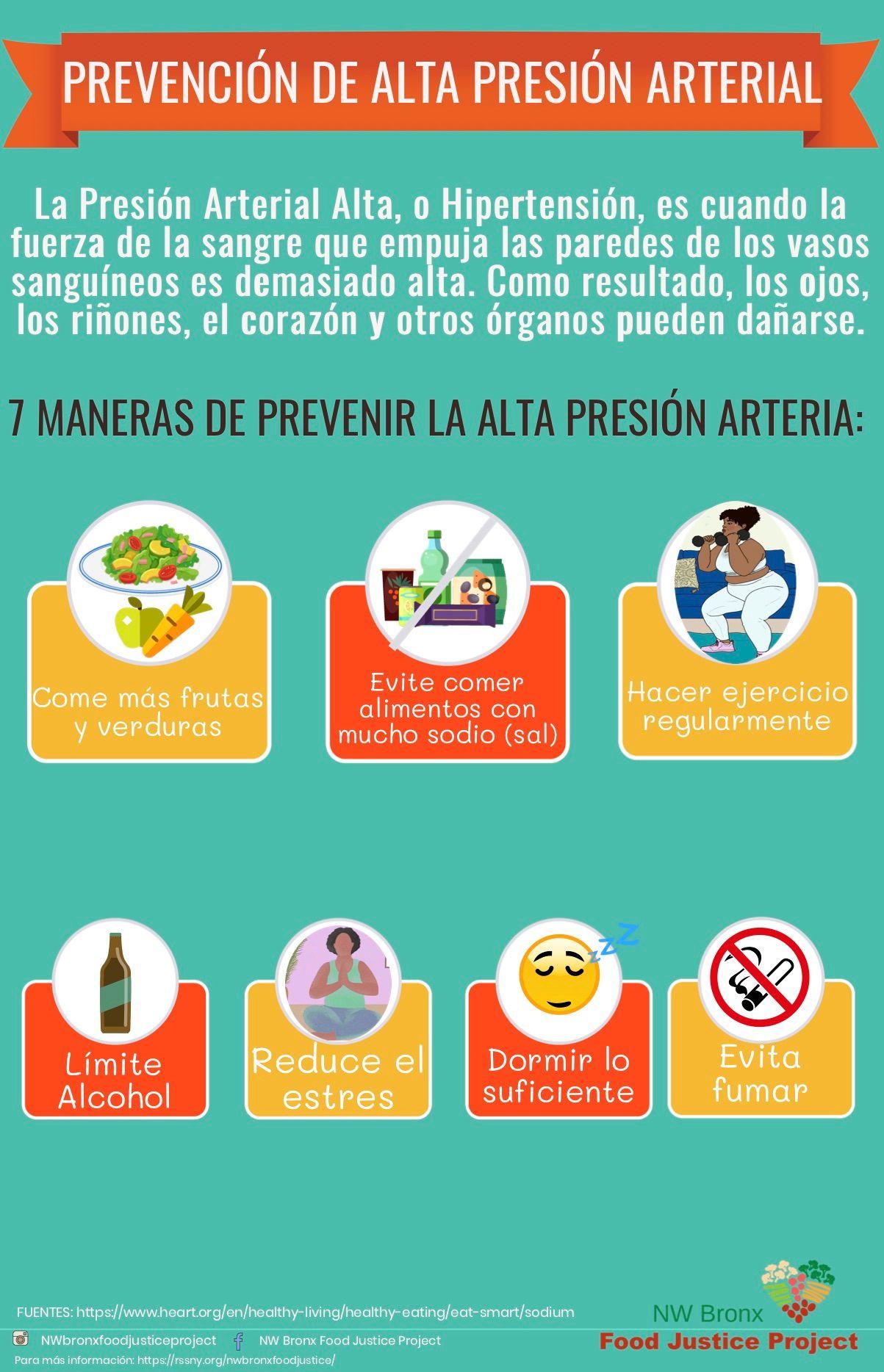 Prevenir la presión arterial alta